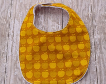 Terrycloth Baby Bib - Apple Print