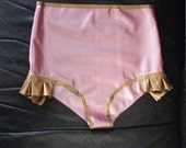 SAMPLE SALE 50% OFF - Latex Cecelia Bottoms - Size Small - Pearl Rose with Gold