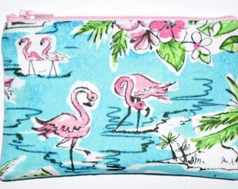 Flamingo Coin Purse Zipper Pouch Zippered Pouch Card Pouch Wallet Gift Idea