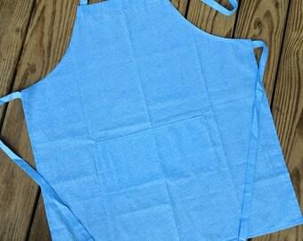 Adult apron light blue tiny flowers standard size kitchen apron