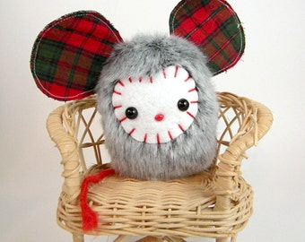 Stuffed Animal Mouse - Christmas Critter Woodland Animal Small Stocking Stuffer Plush