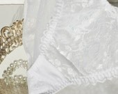 Lace Panties by Carnival Bridal White New Old Vintage Stock Mint Medium