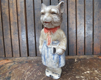 FOX Head Bisque Doll RARE Anthropomorphic Bisque Doll Made in Japan