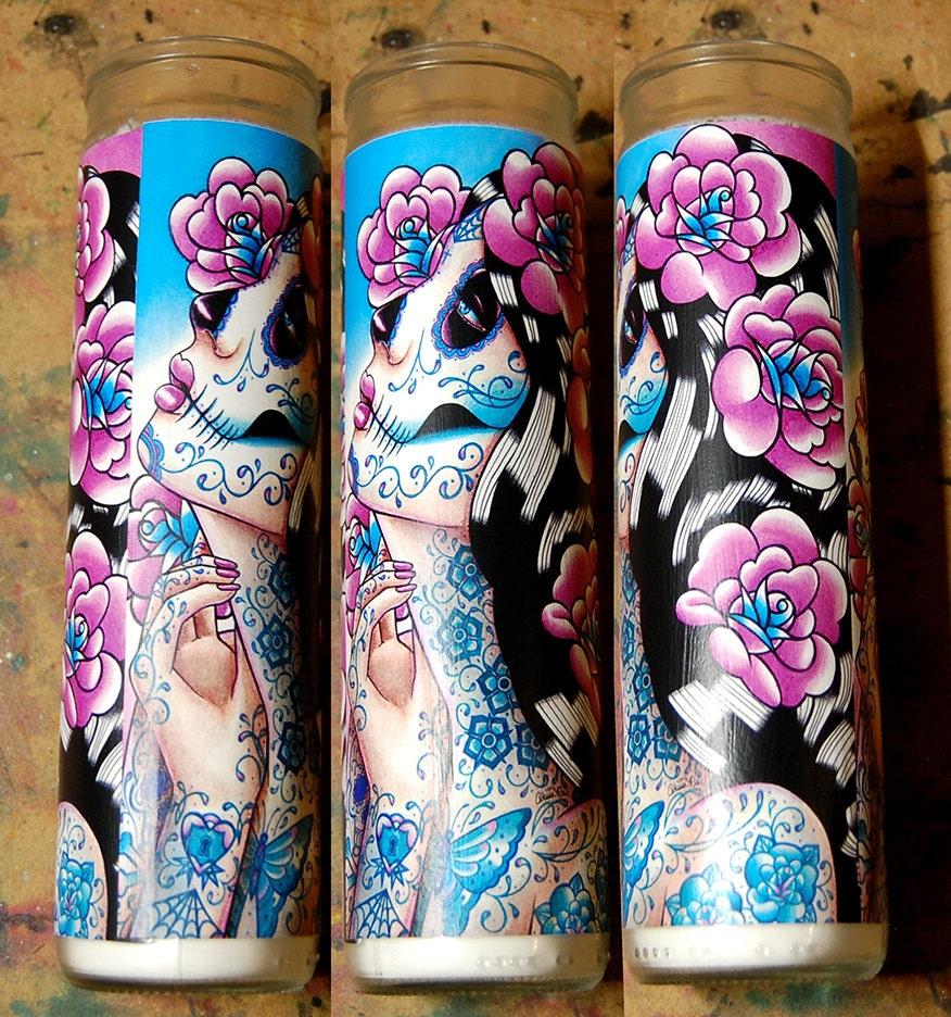 Prayer Candle A Moment Of Silence Tattoo Art Sugar Skull