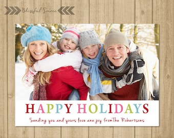 Custom Photo Christmas Card | Christmas Card | Holiday Photo Card | DIY Printable | Happy Holidays