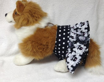 Female Dog Diaper Britches Pet  Panties Wrap Skirt Size XSmall To XLarge Sheep Fabric