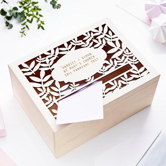 Personalised Wedding Gift Post Box : Botanical Personalised Wedding Post Box
