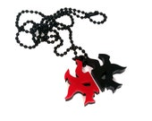 Magic Rakdos Necklace - Acrylic Pendant - Length 24""