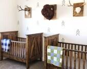 Arrow decals - arrow wall stickers - flat - nursery decor - wall decals - vinyl decals - tree decals - tree vinyl - mountain decals