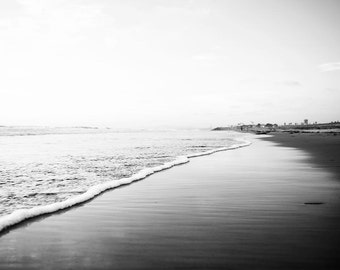 "Black And White Print, Beach Photography, Nautical, Large Art, Wall Art, Decor, Coastal, California Coast, Photography Print, ""Ombre Tides"""