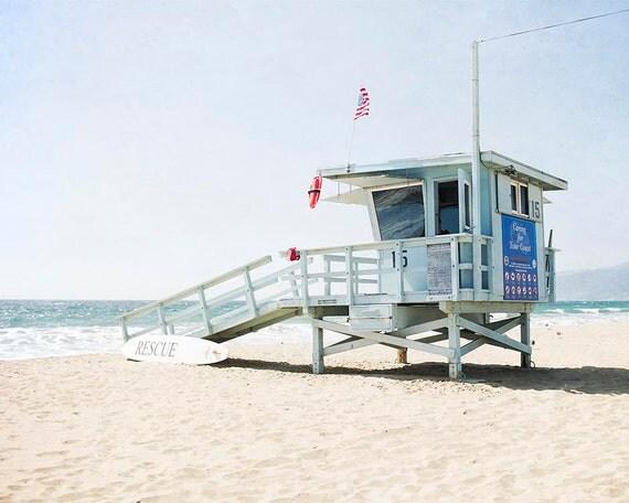 Santa Monica California Photography Lifeguard Tower Beach
