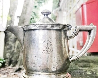 SALE Vintage 1947 Silver Plate Teapot from The Biltmore Hotel NYC