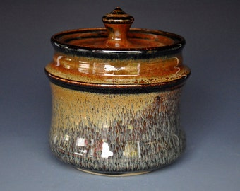 Pottery Jar Ceramic Jar Stoneware Jar Hand Made Jar A