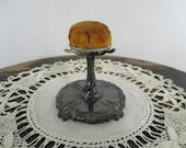 Vintage Quadruple Plate Flower Style Pincushion - Sewing - Quilting - Studio Decor