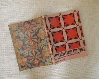 "Vintage 1990 African American Quilt Book - American Folk Art - Slave Quilts - Southern Quilts - ""Stitched From The Soul"" Quilting Book"