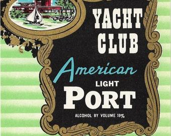 Vintage American Light Port Wine label