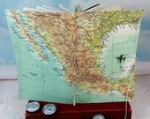 Mexico Map Travel Journal with Vintage Mexico National Geographic Color Map Cover