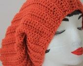 "Knitted ""Corral"" Beanie,  Slouchy Head Accessory, Boho-chic *** FREE SHIPPING ( USA address only)"