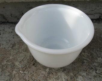 milkglass mixing bowl vintage hamilton beach mixer bowl opal glass farmhouse kitchen mid century kitchen
