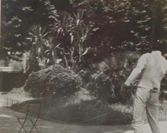 Vintage Sports Photo - Man Fencing in Cannes, France