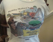 Vintage 80's 1981 Bobby McGee's Arlington Texas Stadium six Flags Bar & Grill Ladies Sexy Fit 50/50 T shirt S