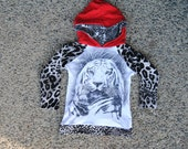 Upcycled Lion Hoodie size 2-3