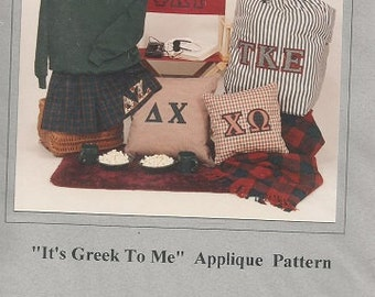 """Bear Rabbit and Company """"It's Greek to Me"""" Applique Pattern"""