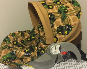 Read To Ship John Deere fabric Infant Car Seat Cover tractors