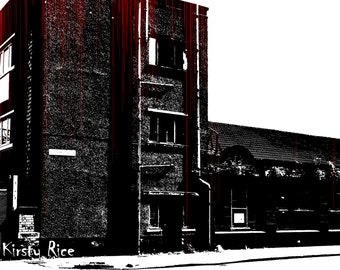 Photograph Print Dark Building Blood Bloody Horror Spooky Grunge Noise City Urban 6 x 4 Variations Available 6x4 7x5 8x10