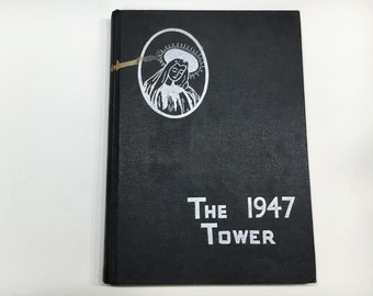 1947 The Tower Yearbook - Cathedral High School, Burlington Vermont [Vintage Year Book, VT]