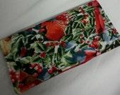 Ladies Checkbook Cover Coupon Holder Clutch Purse Billfold Ready-Made Red Birds Savannah Holly