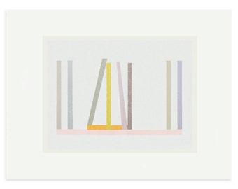 Fine art print, screenprint, abstract original minimal, contemporary, geometric art by Emma Lawrenson