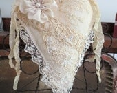 Lace Covered Hanging Heart