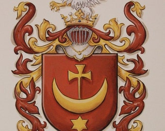 Family Crests & Custom Coat of Arms on Watercolor Paper