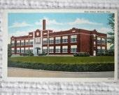 Postcard Willard, Ohio High School, C. T. American Art, Genuine Curteich Chicago