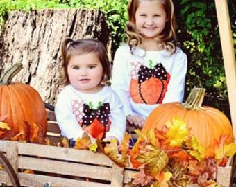 Toddler Girls Minky Pumpkin Shirt ... Infant Toddler Youth Girl Sizes
