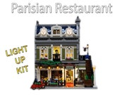Light up kits for LEGO 10243 - Parisian Restaurant Modular  - (Model not included)