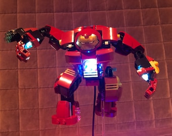 Lightup Kits for Lego 76013 HulkBuster - ( HulkBuster not included) (USB or Battery box version)