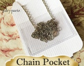 CHAIN POCKETS for Jewelry Cards•Chain Holders•Necklace Chain Holder