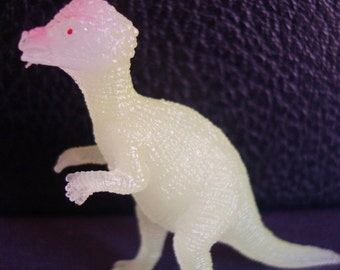 Pachycephalosaurus Dinosaur Brooch Pin - Glow in the Dark Pin - Thick Headed Lizard