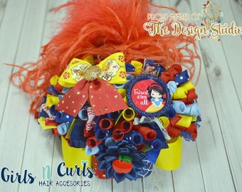 Ready To Ship Fairest Of Them All Funky Loopy Boutique Bow