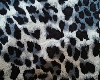 Animal print jersey with lycra