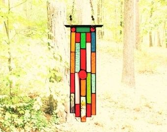 Awesome stained glass art glass suncatcher stained glass panel gift decorative art