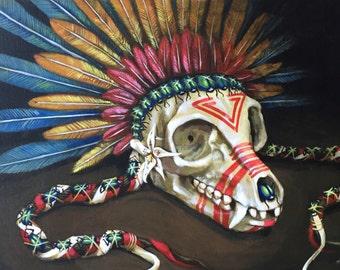 Lemur headress painting