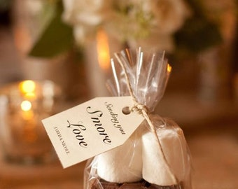 "100 Poly Smores Gusseted Favor Clear Bags Clear also for Candy, Cookies, and Popcorn 4""x2""x8"""