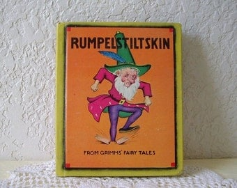 Rare First Edition of RUMPELSTILTSKIN and the Story of Rapunzel, The Brothers Grimm Illustrated by Ethel Hays, 1938