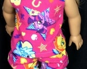 18 inch doll pajamas my little pony pjs made to fit american girl sized doll