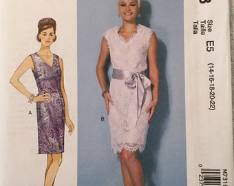 McCall's Sewing Pattern M7318 E5 Misses' Dress New UNCUT