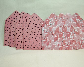 Pink Flamingo Envelopes, Pink Summertime Envelopes, Flamingos, Summer Theme Envelopes