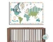 WorldMap, Adventurous World, 32X48 Inches, Travel Artwork, Travel gift, Farewell, Gift for home, Maps for kids, Gift for baby